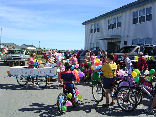 Bicycles in Parade
